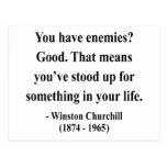Winston Churchill Quote 3a Postcard