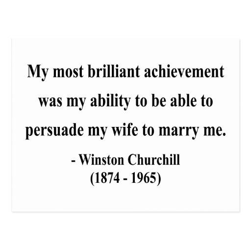 Winston Churchill Quote 6a Postcard