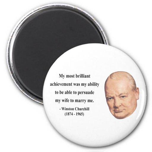 Winston Churchill Quote 6b Refrigerator Magnets