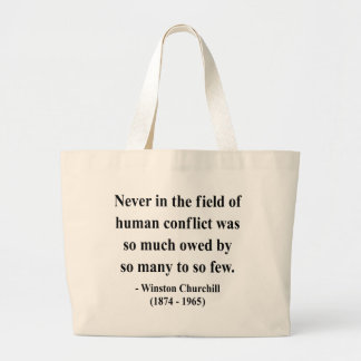 Winston Churchill Quote 8a Canvas Bags