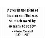 Winston Churchill Quote 8a Postcards