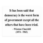 Winston Churchill Quote 9a Postcard