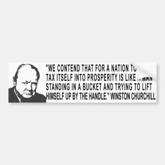 Winston Churchill Quote Bumper Sticker
