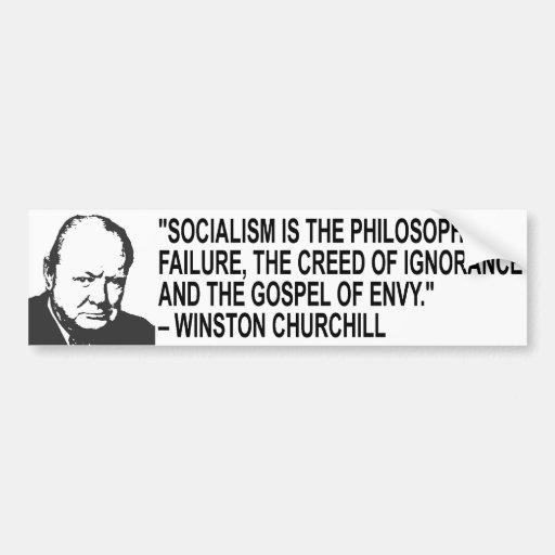 Winston Churchill Quote Bumper Sticker Car Bumper Sticker