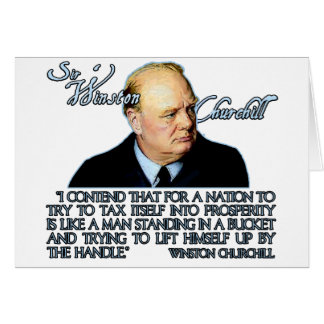 Winston Churchill Quote on Taxation Greeting Cards