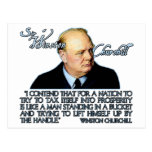 Winston Churchill Quote on Taxation Post Cards