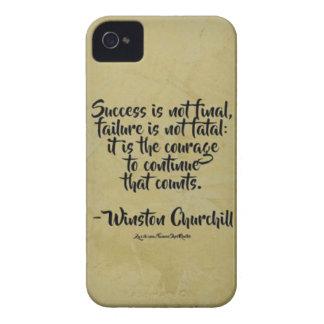 Winston Churchill Quote; Success iPhone 4 Cover