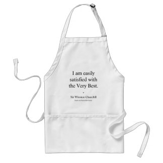 Winston Churchill Quote; The Very Best Adult Apron