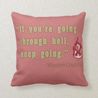 Winston Churchill quote Throw Pillow