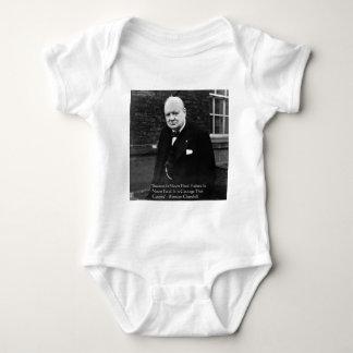 Winston Churchill regalos nunca finales del Body Para Bebé