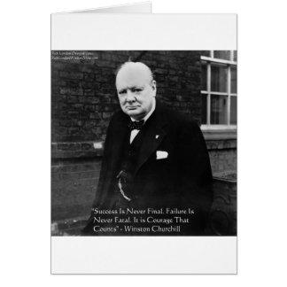 """Winston Churchill regalos nunca finales del """"éxito Felicitación"""
