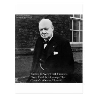 "Winston Churchill regalos nunca finales del ""éxito Tarjeta Postal"