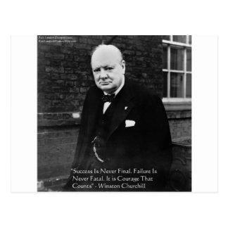"""Winston Churchill regalos nunca finales del """"éxito Postales"""
