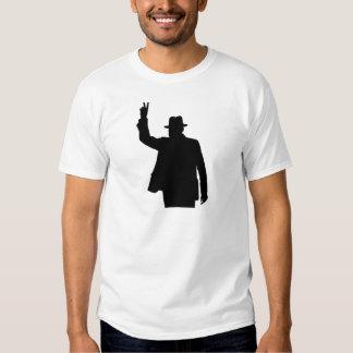 Winston Churchill - silueta de la victoria Playeras