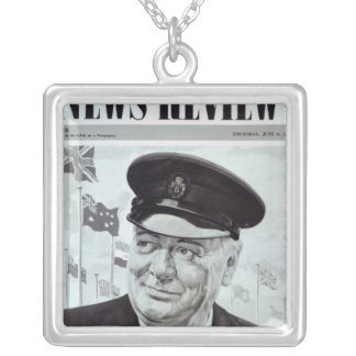 Winston Churchill Silver Plated Necklace