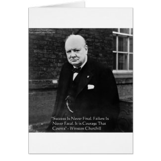"Winston Churchill ""Success Never Final"" Gifts Card"