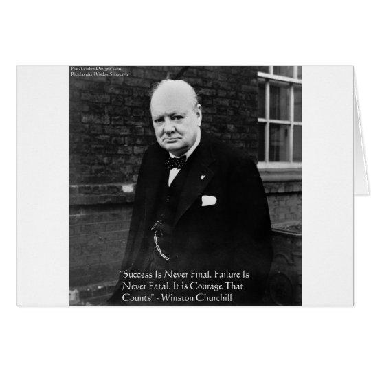 "Winston Churchill ""Success Never Final"" Gifts Card"