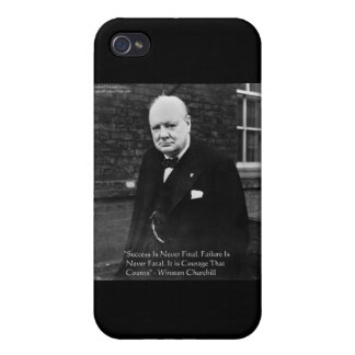 """Winston Churchill """"Success Never Final"""" Gifts iPhone 4 Cover"""