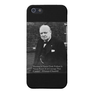 """Winston Churchill """"Success Never Final"""" Gifts iPhone 5/5S Covers"""