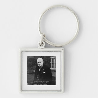 "Winston Churchill ""Success Never Final"" Gifts Keychain"