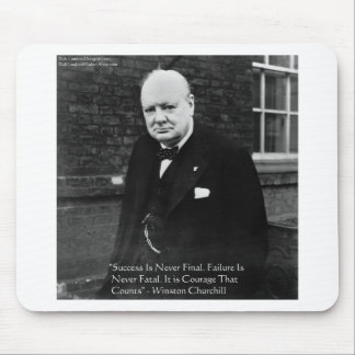 """Winston Churchill """"Success Never Final"""" Gifts Mouse Pad"""