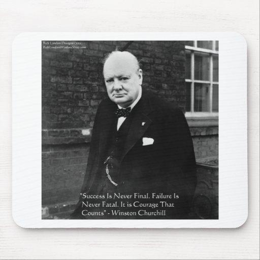 """Winston Churchill """"Success Never Final"""" Gifts Mousepads"""