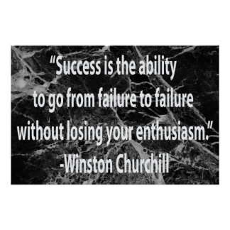 Winston Churchill: Success Poster