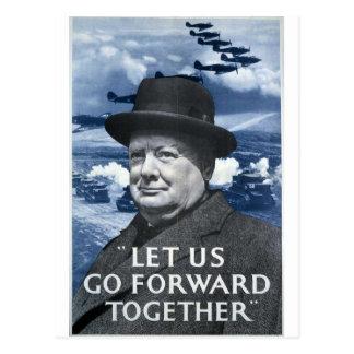 Winston Churchill Tarjeta Postal
