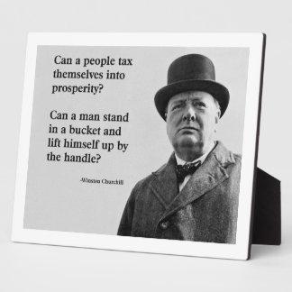Winston Churchill Tax Quote Plaque