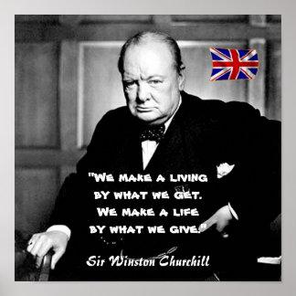 Winston Churchill - una vida contra una vida Póster