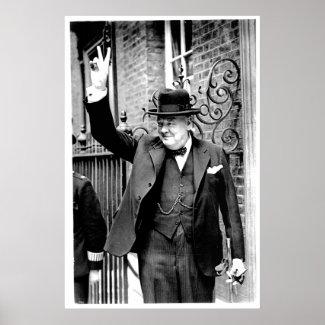 Winston Churchill, V for Victory print