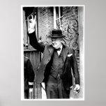 Winston Churchill, V for Victory Poster