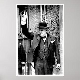 Winston Churchill, V para la victoria Póster