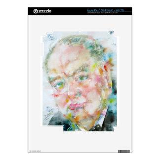 winston churchill - watercolor portrait.2 decals for iPad 3
