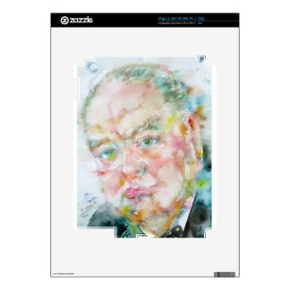 winston churchill - watercolor portrait.2 iPad 2 skin