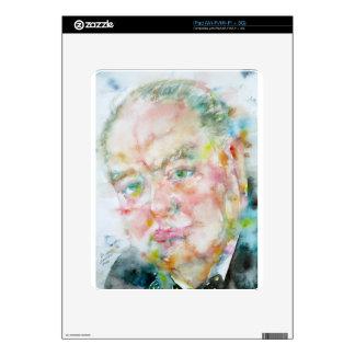 winston churchill - watercolor portrait.2 skin for the iPad