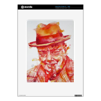 winston churchill - watercolor portrait skin for iPad