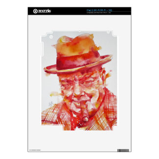 winston churchill - watercolor portrait skins for iPad 2