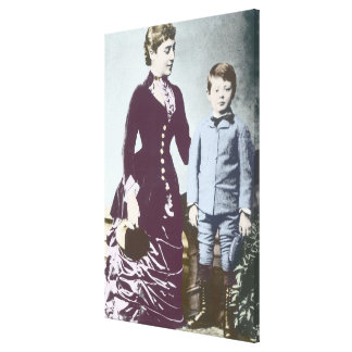 Winston Churchill with his mother 2 Canvas Print
