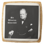 Winston Churchill y bandera británica