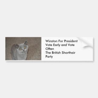 Winston for President Car Bumper Sticker