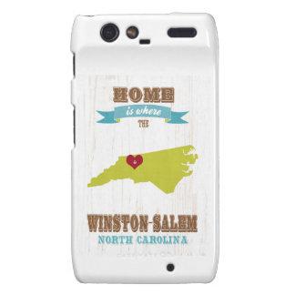 Winston mapa de Salem, Carolina del Norte - casero Droid RAZR Carcasa