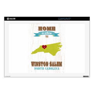 Winston mapa de Salem, Carolina del Norte - casero Portátil 43,2cm Skins