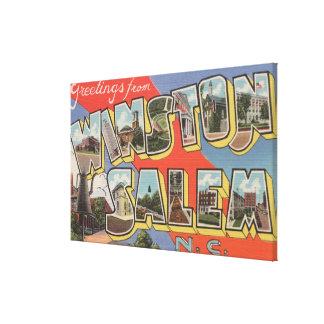Winston-Salem, Carolina del Norte Impresión De Lienzo