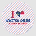 Winston Salem, Carolina del Norte Etiquetas Redondas