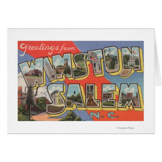 Winston-Salem, Carolina del Norte Tarjetón
