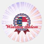 Winston-Salem, NC Etiquetas Redondas