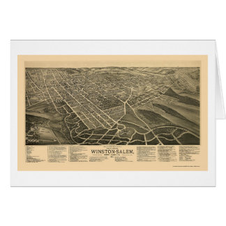 Winston-Salem, NC Panoramic Map - 1891 Card