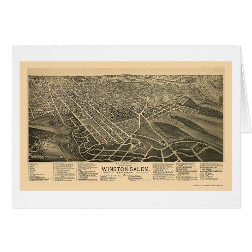 Winston-Salem, NC Panoramic Map - 1891 Card