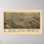 Winston-Salem, NC Panoramic Map - 1891 Poster